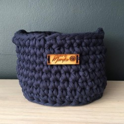 Navy basket (small)